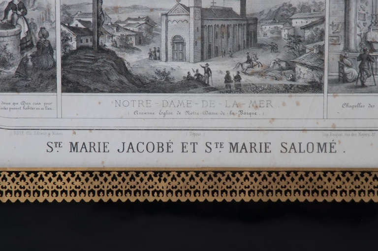 French 19th Century Lithograph of The Procession of The Holy Relics For Sale 1