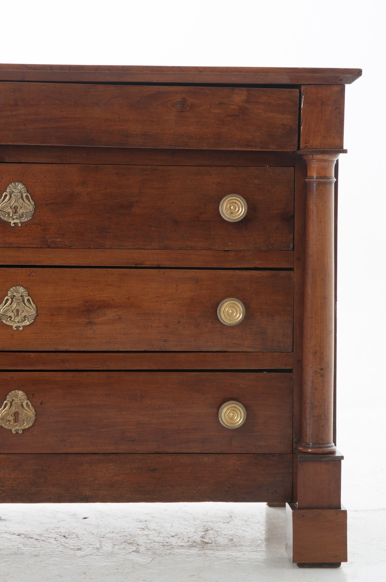 French 19th Century Empire Walnut Commode At 1stdibs