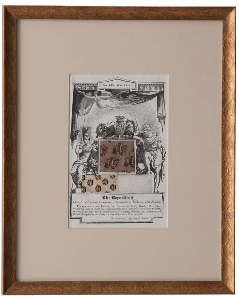 English 19th Century Set of 4 Prints, The Repository In Good Condition For Sale In Baton Rouge, LA