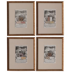English 19th Century Set of 4 Prints, The Repository