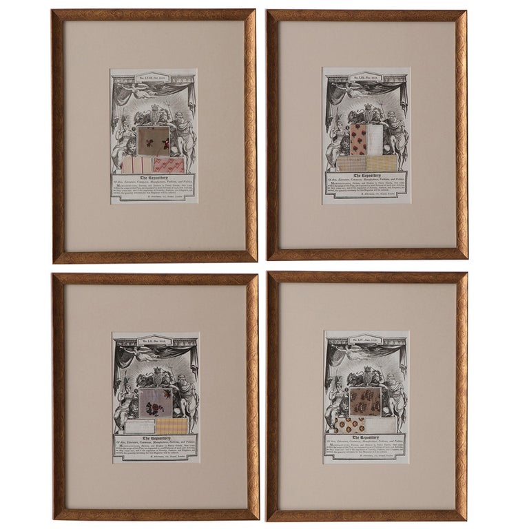 English 19th Century Set of 4 Prints, The Repository For Sale