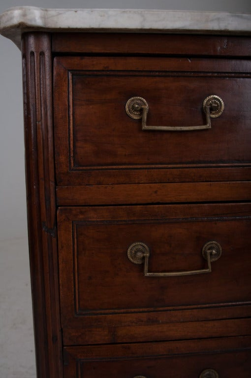 French 19th Century Walnut & Marble Top Commode 10