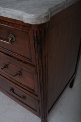 French 19th Century Walnut & Marble Top Commode image 6