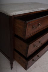 French 19th Century Walnut & Marble Top Commode image 9