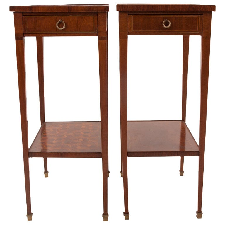 French 19th century pair of narrow side tables at 1stdibs for Narrow side table