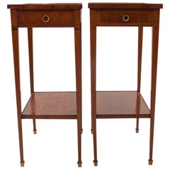 French 19th Century Pair of Narrow Side Tables