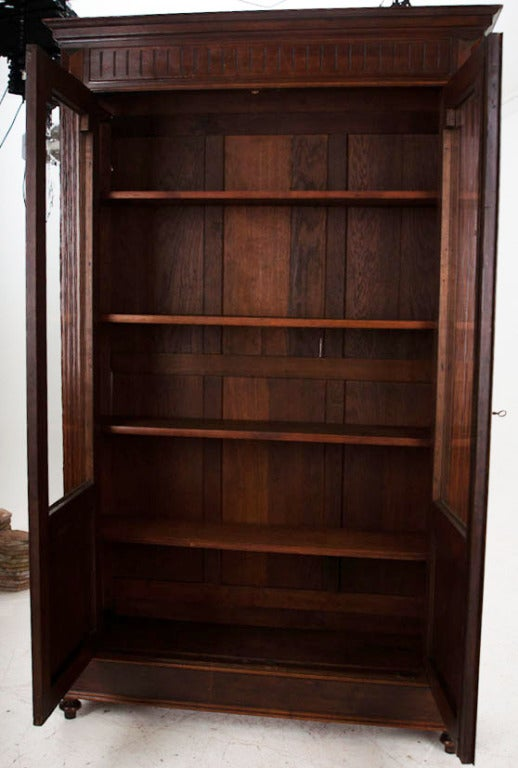 French 19th century louis xvi style walnut bibliotheque at 1stdibs - Bibliotheque 4 cases ...