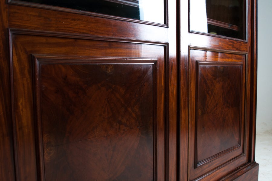 Restoration style mahogany bibliotheque at 1stdibs - Bibliotheque 9 cases ...