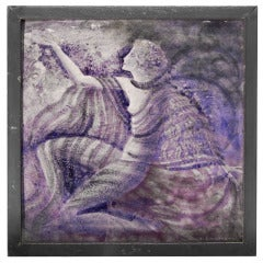 """Modern Dancer,"" Very Fine, Unique Art Deco Tile by Simonaky"