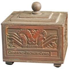 Highly Rare Art Deco Bronze Box, General Bronze Corporation