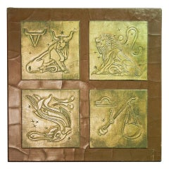 "Important and Rare ""Zodiac"" Relief Panel by Pierre Bourdelle"