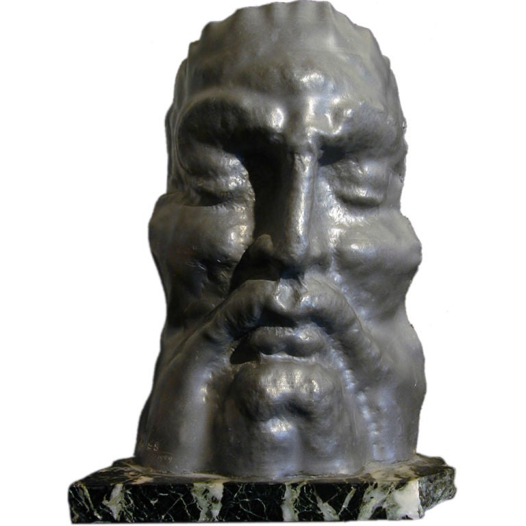 Late art deco sculpture of molded lead by eugen gauss for - Bronze sculptures for sale ...