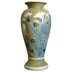 "Rare Art Deco ""Flowering Cactus"" Vase by Waylande Gregory"