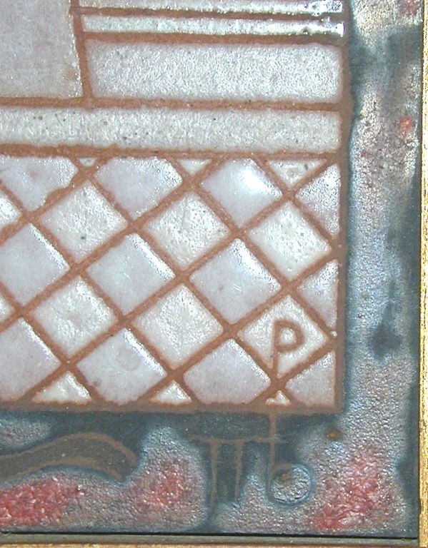Midcentury Triptych Tile Panel by Panos Valsamakis 6