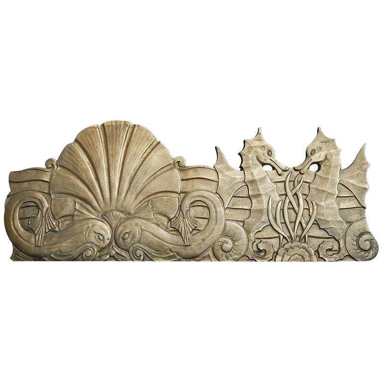 Undersea Frieze Remarkable Set Of Bronze Art Deco Bas Relief Panels
