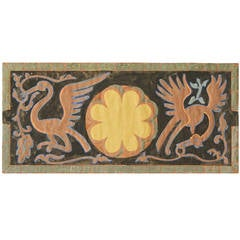 Exotic Bird Frieze, Art Deco Decorative Painting by Dunbar Beck