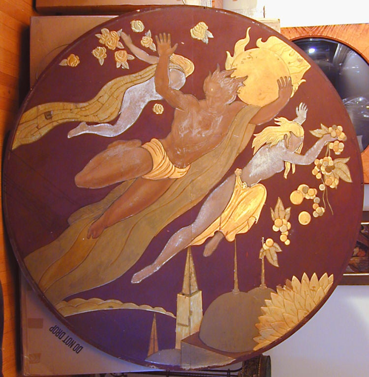 """""""Apollo and Flora in the Sky,"""" Art Deco Mural by Bourdelle ..."""