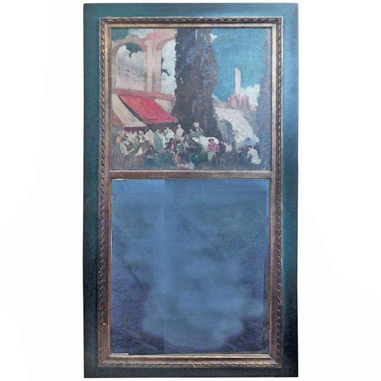 """Under the Aqueduct,"" Very Fine 1920s Trumeau from Philadelphia Estate"