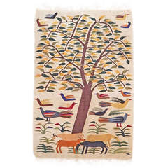 """Important """"Tree of Life"""" Tapestry from the Ramses Wissa Wassef Workshop"""