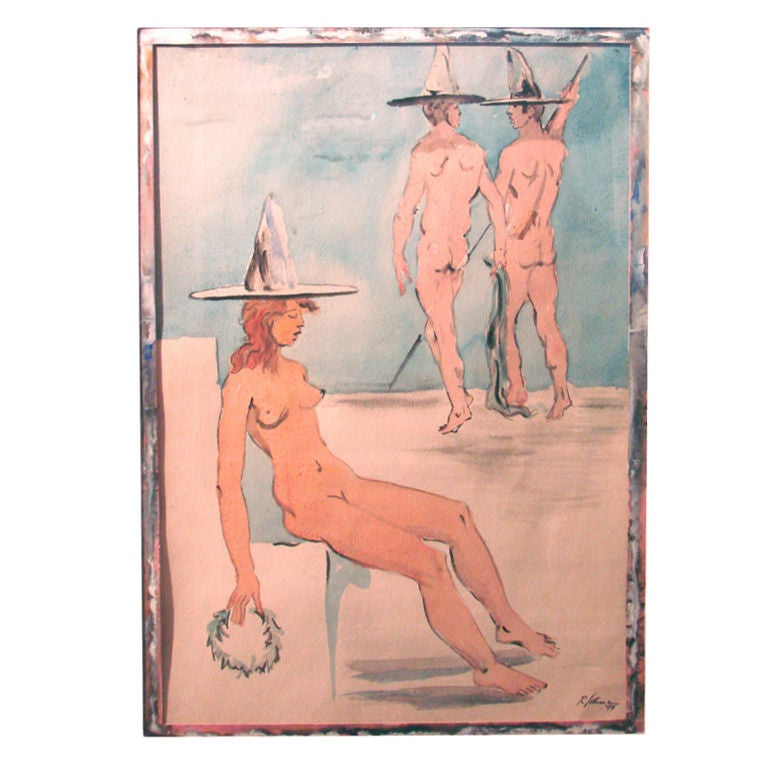 """Three Nudes"" by Robert Lohman"