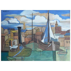 """Portside View,"" Important Cubist Painting by Andre Lhote"