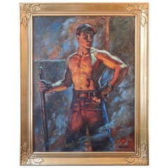 """""""The Ironworker"""" Paean to the American Industrial Worker, 1930s"""