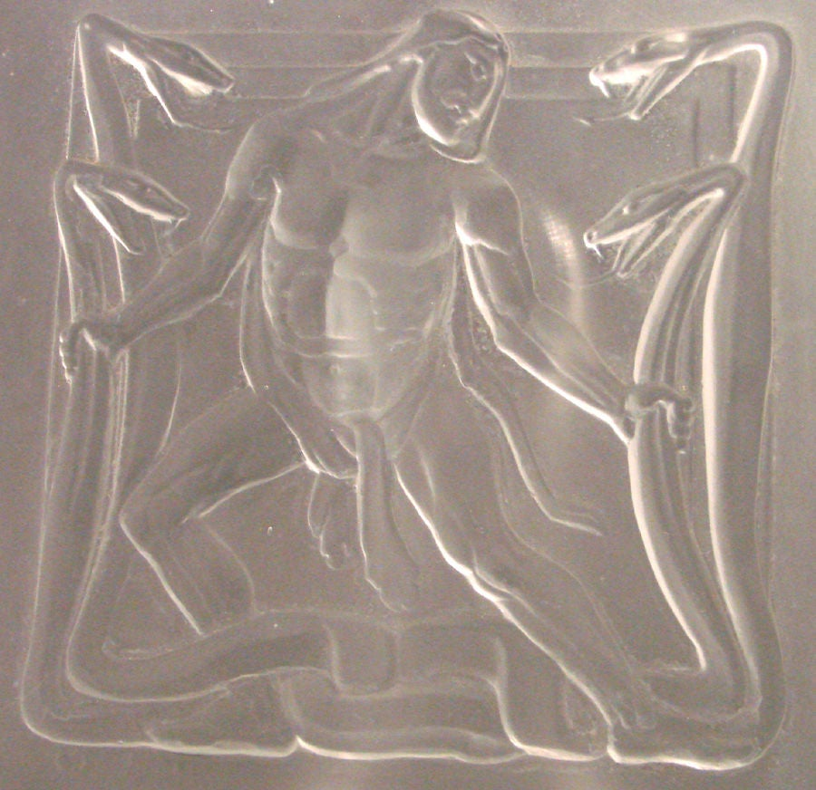 Rare art deco glass panel with hercules and hydra in bas relief at 1stdibs - Deco glace ...
