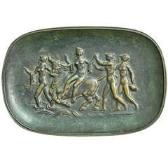 """Europa and the Bull"" Fine and Rare Art Deco Bronze Tray"