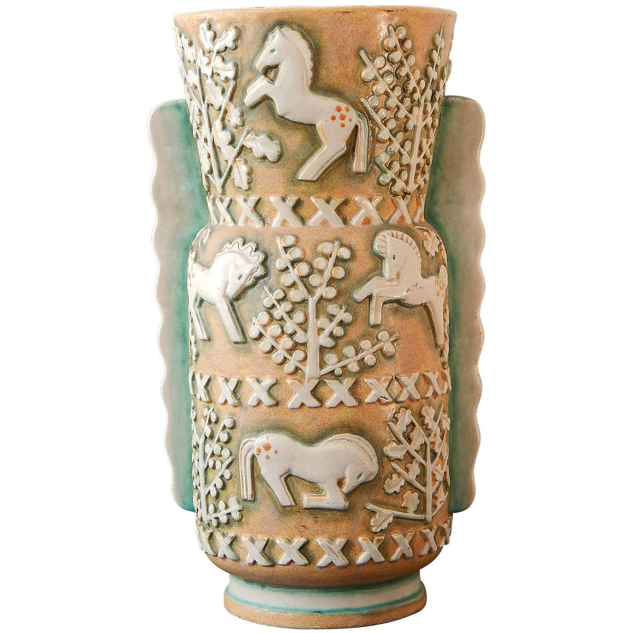 Spotted ponies rare art deco floor vase by ernest dhossche for spotted ponies rare art deco floor vase by ernest dhossche for floridaeventfo Image collections