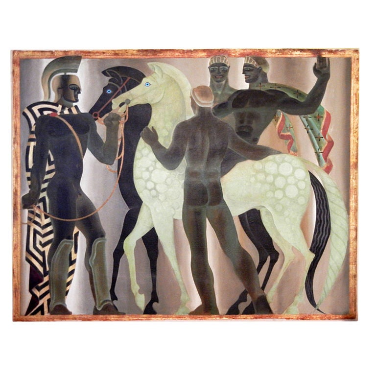 The Etruscans Art Deco Mural Masterpiece By Mahoney At