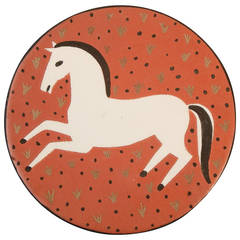 """Galloping Horse"" Art Deco Plaque by Waylande Gregory, 1940s"