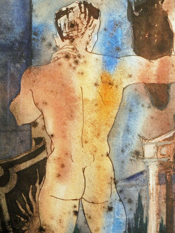 """Nude Centurion with Horse and Shield"" by Jackson, 1959 at 1stdibs"