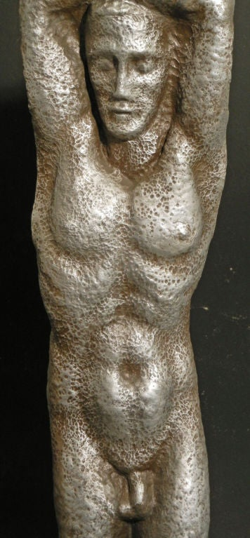 American Male and Female Nude Sculptures by Waylande Gregory For Sale