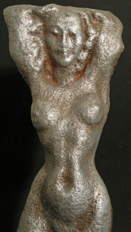 Mid-20th Century Male and Female Nude Sculptures by Waylande Gregory For Sale