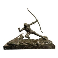 """Archer,"" rare Art Deco bronze by Ghanu Gantcheff"