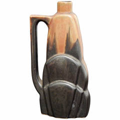 Rare Art Deco Vase in Pitcher Form by Greber
