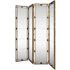 """""""Profondeur,"""" Four-Panel Mirrored Screen by Christopher Guy, Mint"""