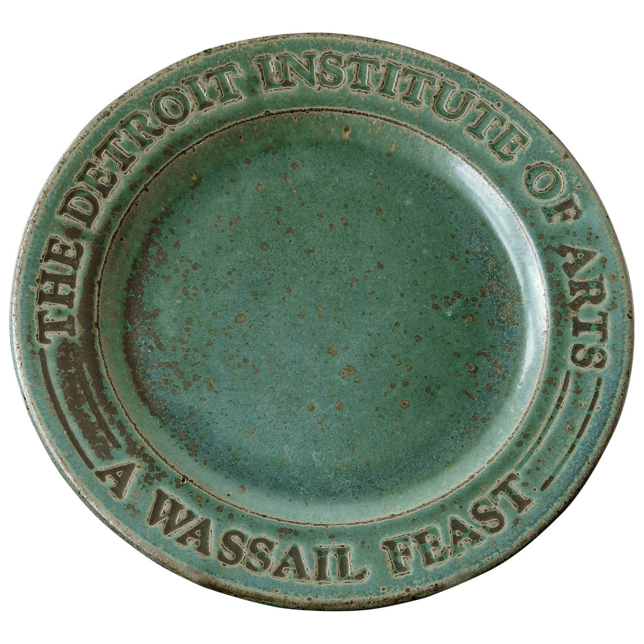 """""""Wassail Feast"""" Charger by Pewabic for Detroit Institute of Arts, 1982"""