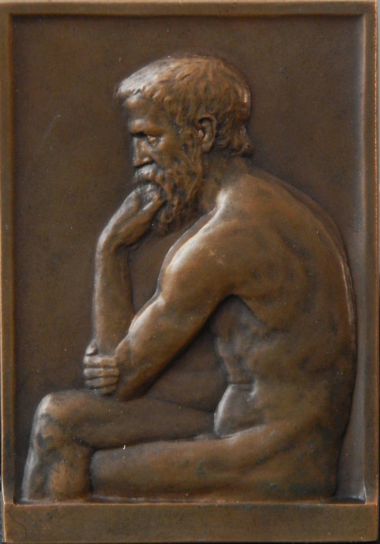 German Rare Bronze Paperweight Celebrating 500th Anniversary of Leipzig Univ, 1909 For Sale
