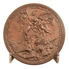 """""""Momento of the 1893 World's Fair,"""" Bronze Relief w/ American Indian Motif"""