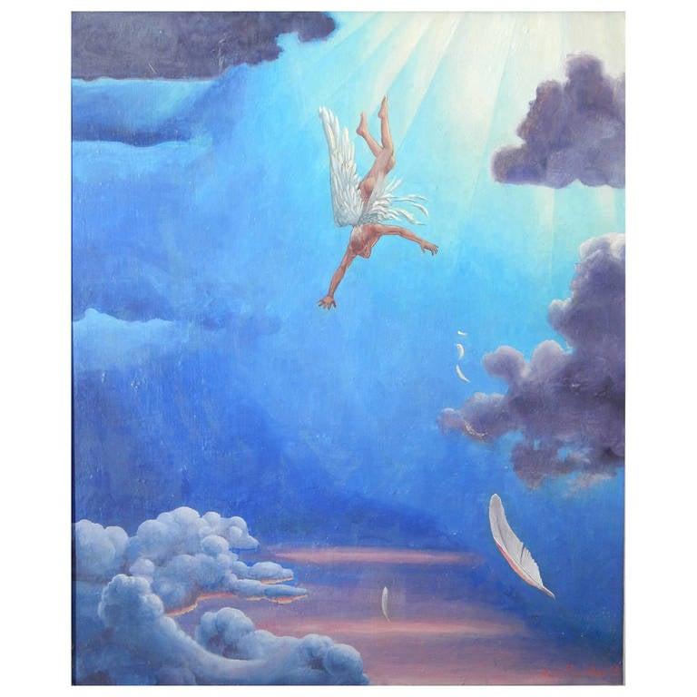 """Icarus Falling,"" Brilliant Painting by Genre Scene Artist Kyra Markham"
