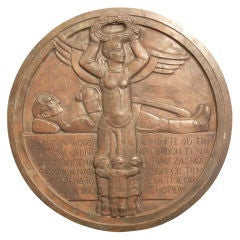 Rare Art Deco Bronze Rondel by Studin, Croatia