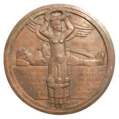 Rare Art Deco Bronze Rondel by Studin, Croatia