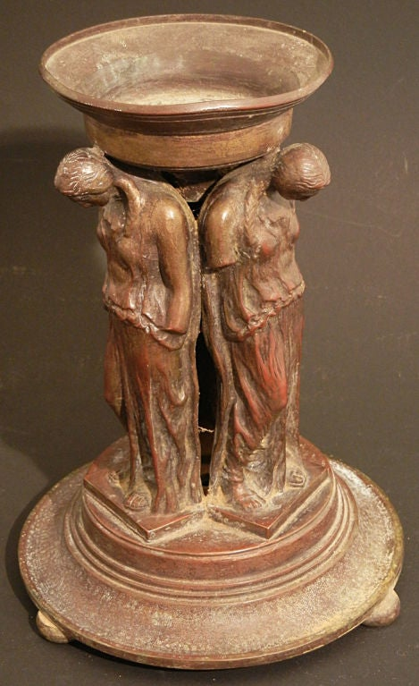 """Caryatids,"" Important, Rare Bronze by Oscar Bach In Excellent Condition For Sale In Philadelphia, PA"