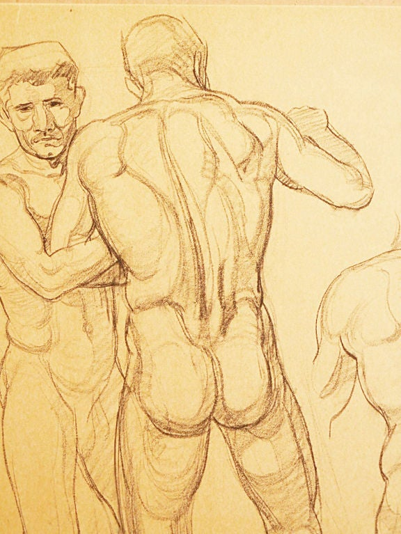 Study of Wrestling Male Nudes by Waano Gano 2