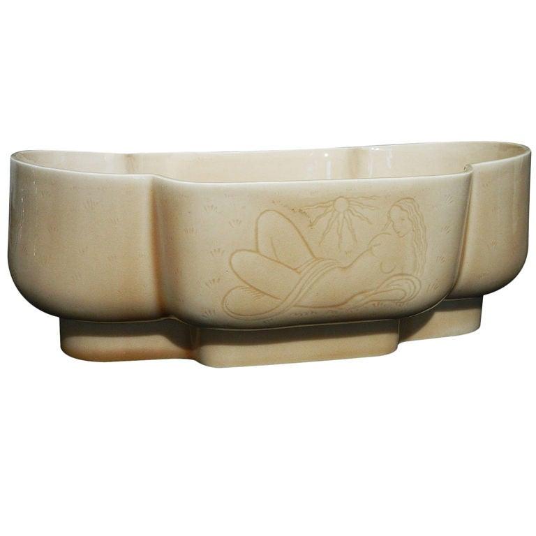 Early Art Deco Bowl w/ Female Nudes by Waylande Gregory