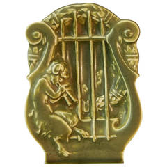 """""""Satyr and Lyre,"""" Rare Art Deco Dish by Rookwood, 1927"""