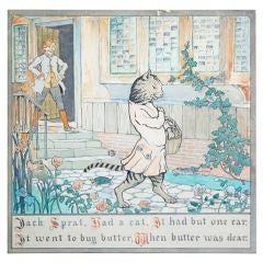 """Jack Sprat Had a Cat,"" Famed 1911 Nursery Rhyme Illustration"