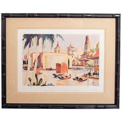 """Pacific Basin,"" Important Art Deco Painting of Golden Gate Expo"