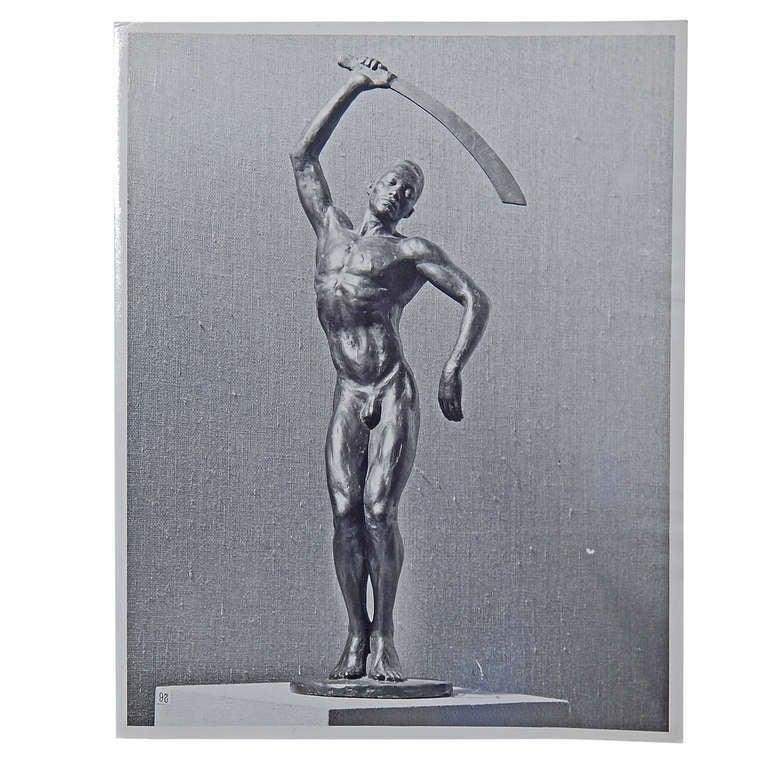 """""""Benga,"""" Important Photograph of Barthe Sculpture by M. Smith"""